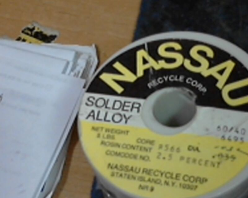 MARCH special 5# spool Western Electric NASSAU solder  .032