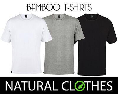 Bamboo Short Sleeve T-shirt (Bamboo T-Shirt Round Crew Neck Short Sleeve Top Tee Mens Premium Natural Clothes)