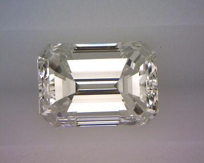 14k white gold ring 1.50 ct, 1.01 carat GIA certified Emerald cut Diamond  H VS1 1