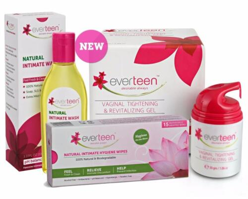 Everteen Intimate Care Intimate  Gel 50gm Wash & Wipes Combo of Everteen