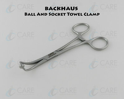 Backhaus Ball Socket Towel Clamp Forceps 13.5 Cm Care Instruments