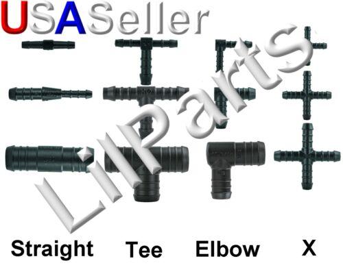 Vacuum Air fuel Water Hose Joiner Mender Repair Fitting Barbed Tee Angle X Y