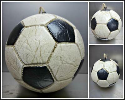 Large Christmas Balls (Old World Large Soccer Ball Christmas Ornament Figurine Hand Painted Unique)