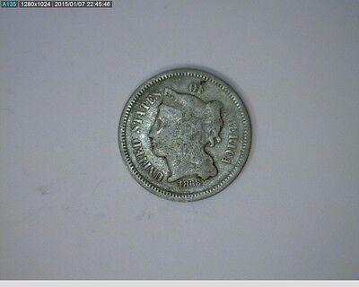 1868 THREE CENT NICKEL   68 101