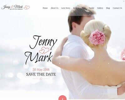Wedding Responsive Website Elegant Wedding Website Custom Web Design