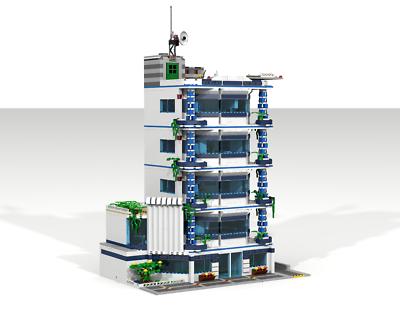 Lego modular instruction MOC: St.Thomas Hospital NEW