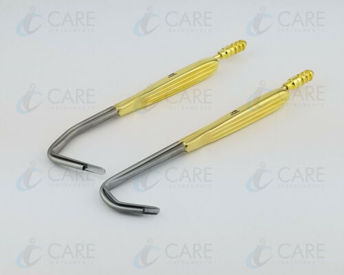 Set of 2 Aufricht Nasal Retractor with Suction Tube 7mm x 16cm, Care Instruments