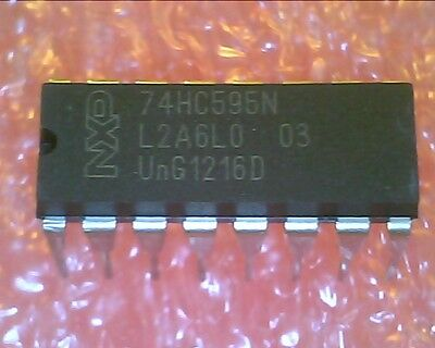 Ic 74hc595 74hc595n Shift Register 8-bit Dip 10pcs Per Lot