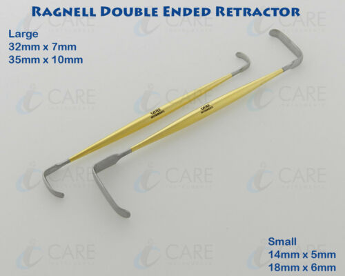 Set of 2 Ragnell Davis Double Ended Nasal Retractor 15 cm Care Instruments