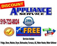 Discount Appliance Repair 24/7 Same day Service 519-722-8024