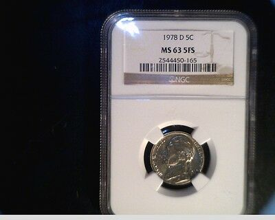 Click now to see the BUY IT NOW Price! 1979 D JEFFERSON NICKEL NGC MS63 5FS. US 708
