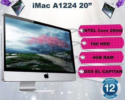 """Apple iMac 20"""" Intel Core 2 Duo 2.0GHz - 4GB RAM - 160GB HDD - OS X El Capitan"""