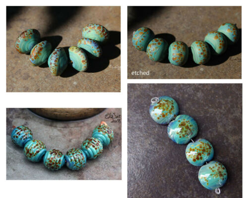 Terrapin -  Handmade Glass Lampwork Beads MTO - Choose Shape and Finish