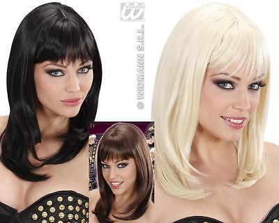Perücke wie ECHTHAAR, Neuheit: glatt Schulterlang schwarz,blond,braun - Neuheit Perücken