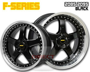 4x FR BLACK 20 inch Staggered Alloy Wheel HOLDEN COMMODORE VL VK VT VY VZ VE VF