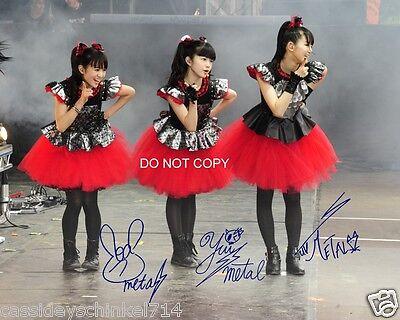 Babymetal Japenese Heavy Metal Trio Reprint Signed 8x10