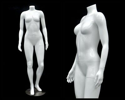 Female Fiberglass Headless Petite Mannequin Body Dress Form Md-gpx02bw1