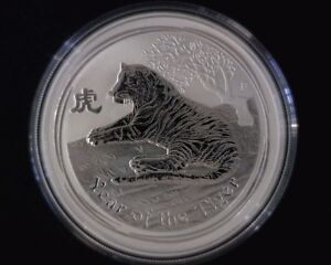 2010 Perth Mint Year of the Tiger 1 oz .999 Silver Coin