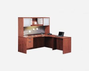 Corner desk without the top (hutch) in Cherry