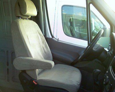 2007 2008 2009 Dodge Sprinter Commercial Cargo Van Exact Fit Seat Covers in Gray Dodge Sprinter Cargo Van