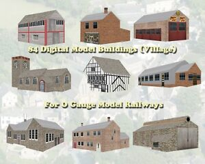 84 Digital Model  Buildings for O Gauge on DVD to Print Out from Your Computer
