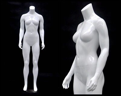 Female Fiberglass Headless Petite mannequin Body Dress Form #MD-GPX01BW1