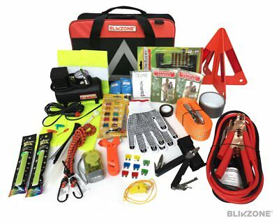 Blikzone 81- Pc Auto Roadside Assistance Emergency Essentials Car Kit Truck &...
