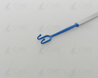Foman Alae Insulated Retractor 16 Cm 2 Prongs Blunt Ball Tip Care Instruments