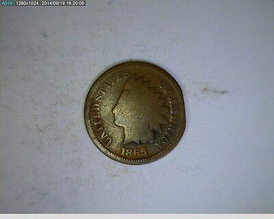 1865 INDIAN HEAD CENT   10-83  FILLER