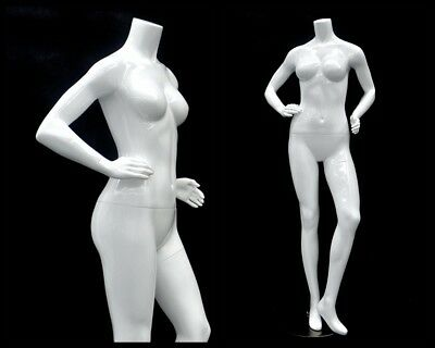 Female Fiberglass Headless Petite Mannequin Body Dress Form Md-gpx04bw1