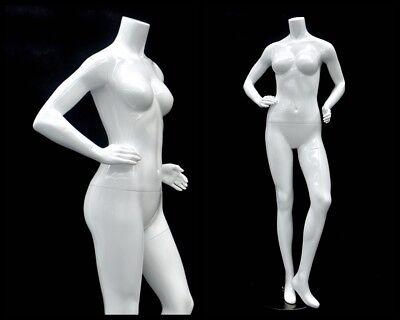 Female Fiberglass Headless Petite Mannequin Body Dress Form Md-gpx04bw1