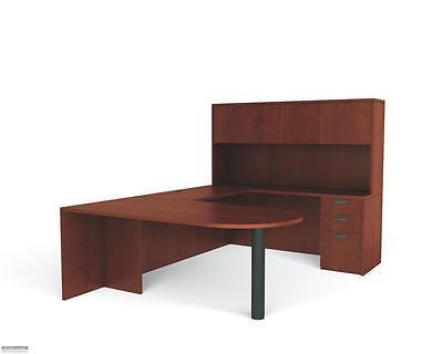 American Dark Cherry Laminate U-shape Executive Office Furniture Desk