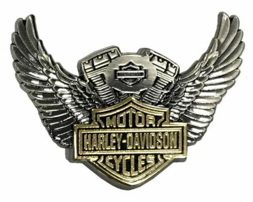 Harley Davidson® Bar & Shield Winged V-Twin Motor Vest Pin Antique Finish
