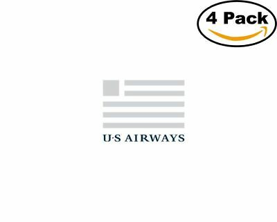 Airlines US Airways Logo 4 Stickers 4X4 Inches Sticker Decal Us Airways Airlines