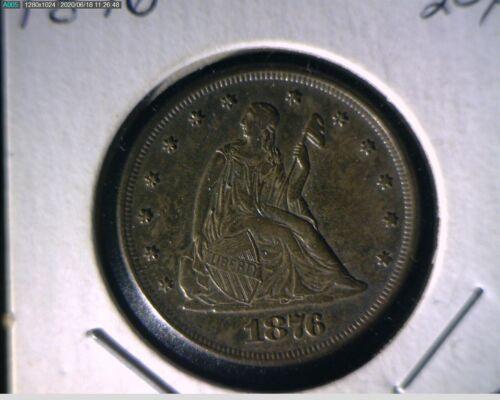 1876 Twenty Cent Piece high AU