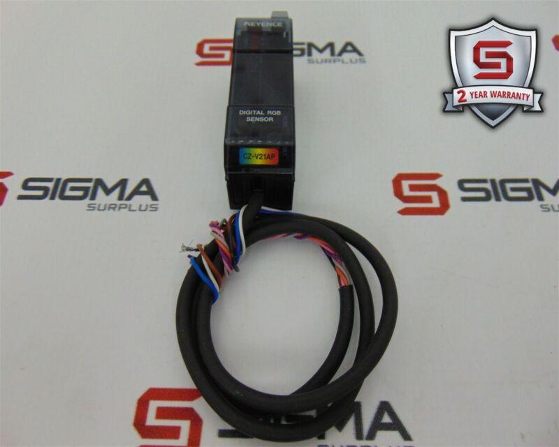 Keyence CZ-V21AP Digital RGB Sensor 24VDC
