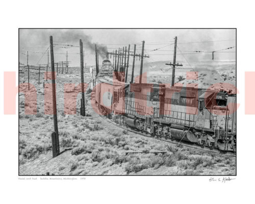 "STUNNING! Milwaukee Road Saddle Mountain Helpers 16X20"" photo print by Kooistra"