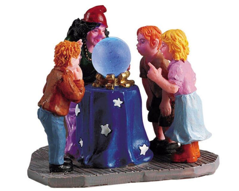 2005 Lemax Spooky Town Psychic/Crystal Ball Children