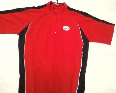 Radler Shirt **Port Louis Active Wear**,rot -schwarz,M