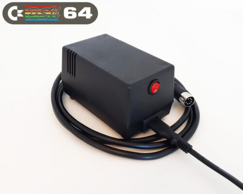 C64 PSU - Commodore 64 Power Supply - Black, LED, Power Switch (US plug)