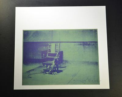 "Andy Warhol, ""Big Electric Chair"", Print from VIP Book.  Hand signed, with COA."
