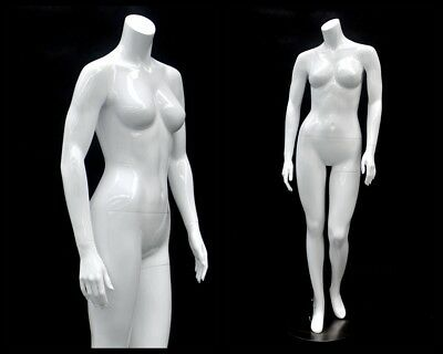 Female Fiberglass Headless Petite Mannequin Body Dress Form Md-gpx05bw1