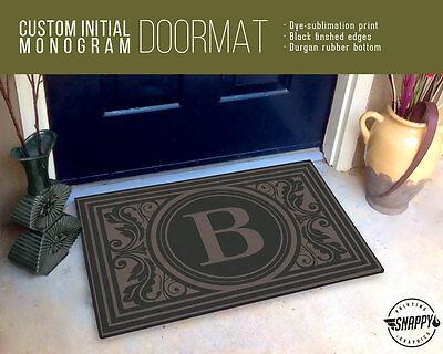 Custom Initial Monogram Welcome Mat/Doormat/Rug - Welcome Mat  Housewarming Gift ()