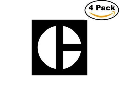 Caterpillar 4 Stickers 4X4 inches Sticker Decal