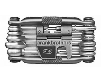 Crank Brothers M19 Bike Maintenance Multi Tool (Silver), 19 Functions, with Case