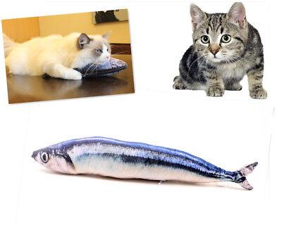 1pcs 3D Soft Pet Cat Saury Plush Fish Chewing Toys Stuffed Mint Pet Kitten 20cm  - Plush Fish