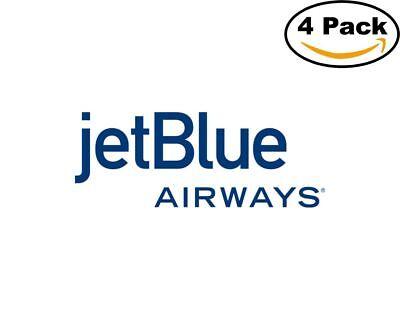 Airlines Jet Blue Airways Airlines Logo 4 Stickers 4X4 Inches Sticker