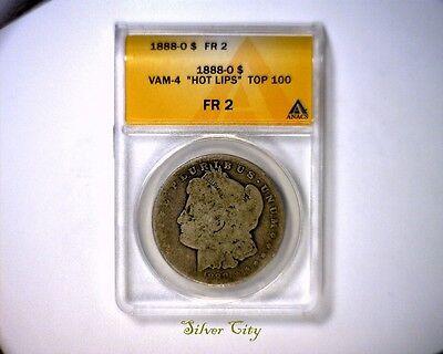 HOT LIPS ANACS FR2 1888O VAM 4 TOP 100  MORGAN SILVER DOLLAR COIN 1888 O