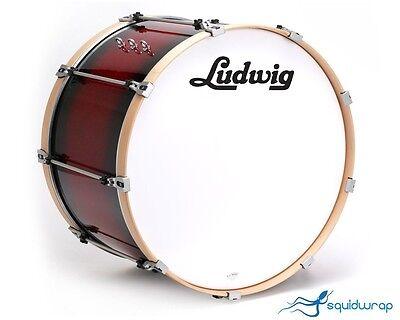 Vintage Ludwig 60's Script Logo Bass Drum Decal - BLACK on Rummage