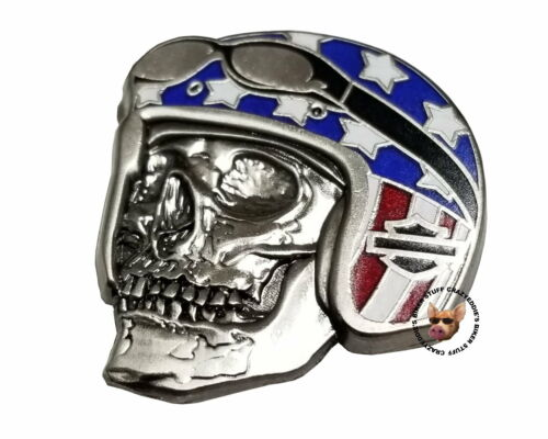 Harley Davidson® Skull Flag Helmet Vest Pin Bar and Shield